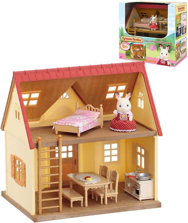 Sylvanian Families dům patrový startovací set s 1 figurkou a doplňky verze 2016