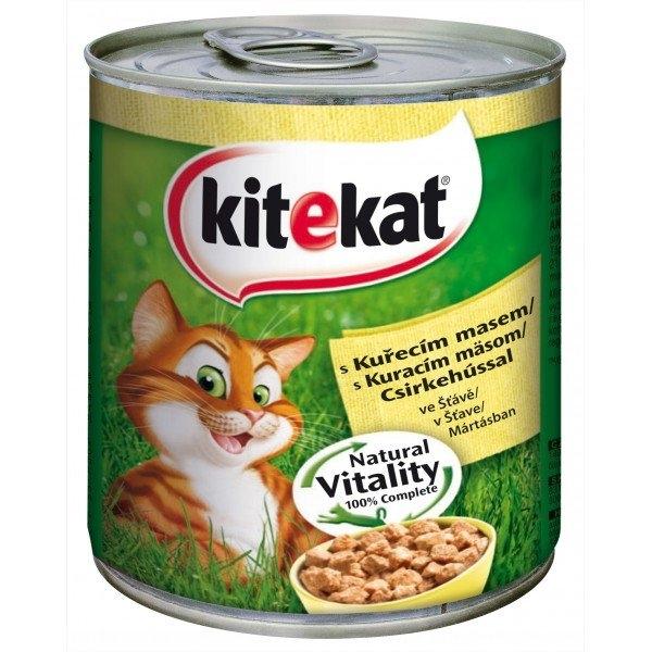 Kuřecí maso ve šťávě kompletní krmivo pro dospělé kočky 800 g