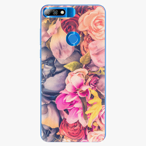 Plastový kryt iSaprio - Beauty Flowers - Huawei Y7 Prime 2018