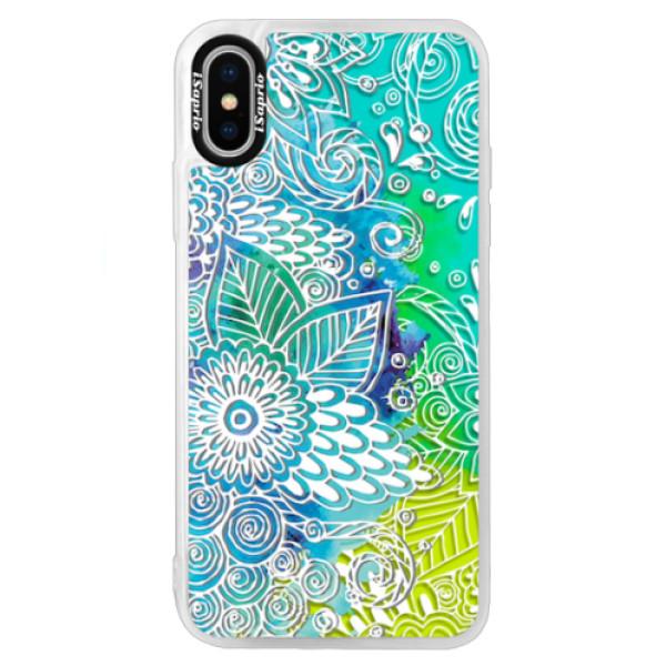 Neonové pouzdro Blue iSaprio - Lace 03 - iPhone XS