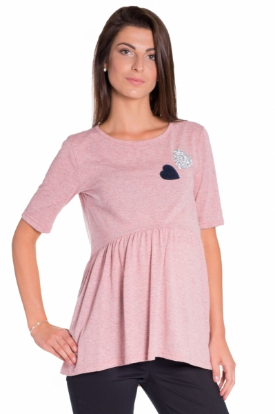 Elegantní těhotenské pončo ažurkové - korálové - UNI - Sortiment pro ... 40c0b0d1c4