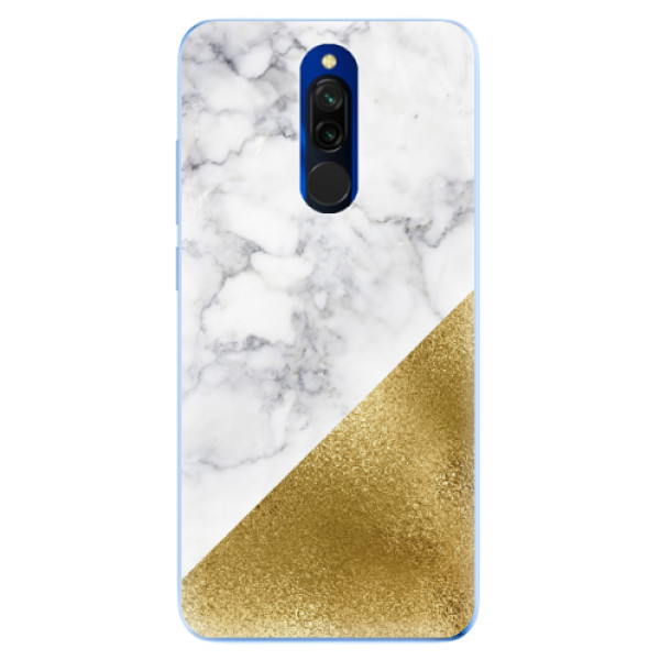 Odolné silikonové pouzdro iSaprio - Gold and WH Marble - Xiaomi Redmi 8