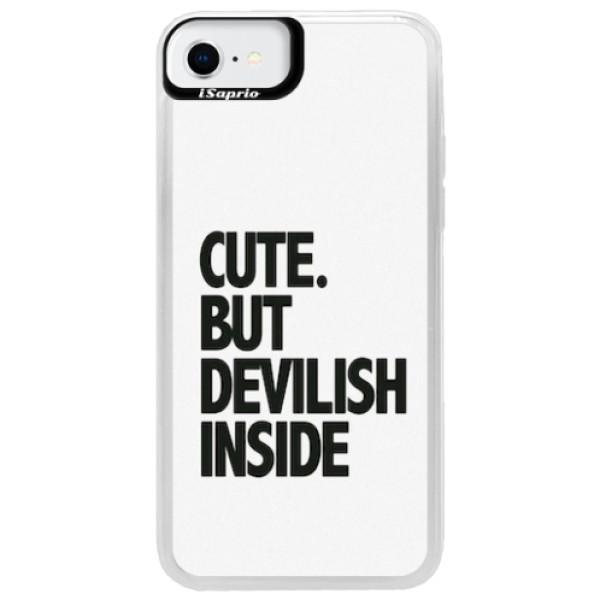 Neonové pouzdro Blue iSaprio - Devilish inside - iPhone SE 2020