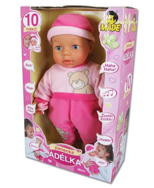 Panenka miminko ADÉLKA 10 funkcí česky mluvící