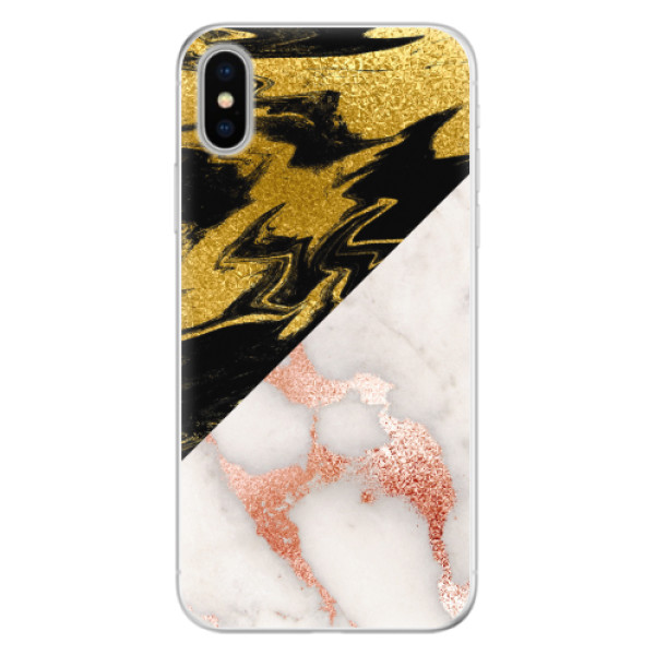 Silikonové pouzdro iSaprio - Shining Marble - iPhone X