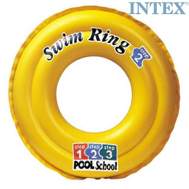 INTEX Kruh nafukovací 51cm plavací kolo do vody žluté