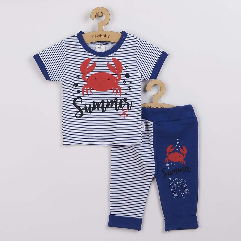 Kojenecké tričko s krátkým rukávem a tepláčky New Baby Summer