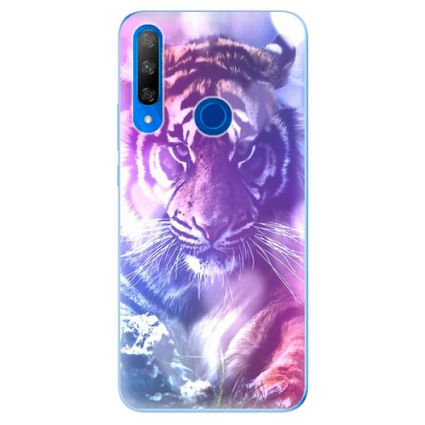 Odolné silikonové pouzdro iSaprio - Purple Tiger - Huawei Honor 9X