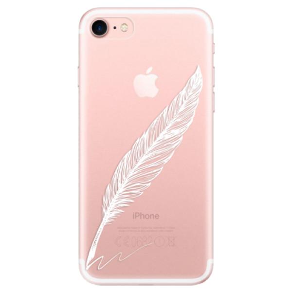 Odolné silikonové pouzdro iSaprio - Writing By Feather - white - iPhone 7