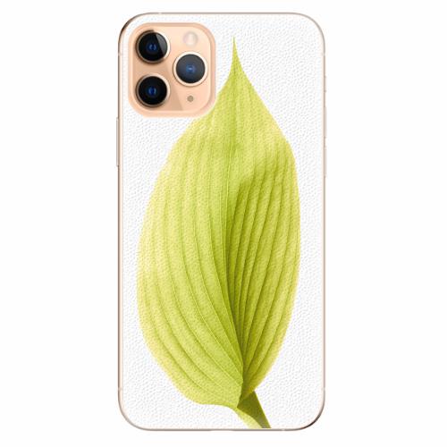 Silikonové pouzdro iSaprio - Green Leaf - iPhone 11 Pro