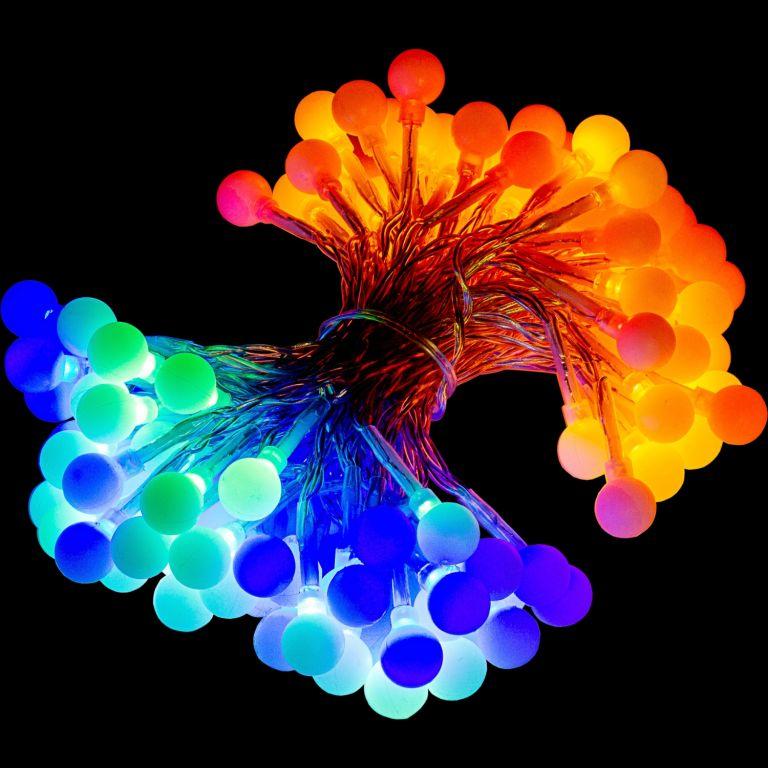 Párty osvětlení - 20 m, 200 LED diod, barevné + ovladač