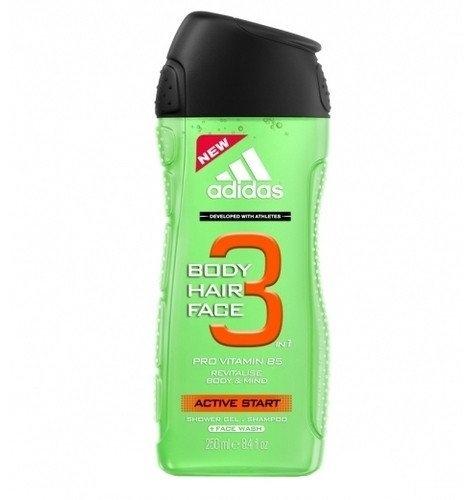 Adidas Active Start 3v1 sprchový gel 250 ml