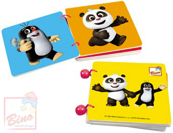 BINO Baby knížka (Krteček) Krtek a Panda barevná pro miminko