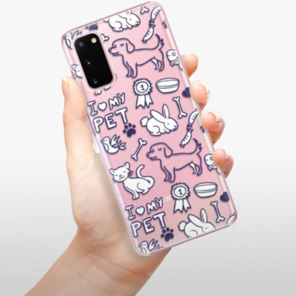Plastové pouzdro iSaprio - Love my pets - Samsung Galaxy S20