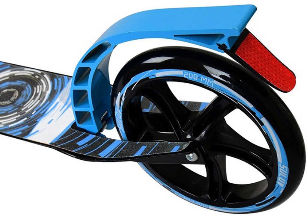 SULOVCIRCLE Skládací alu koloběžka černo-modrá 200mm pro děti i dospělé