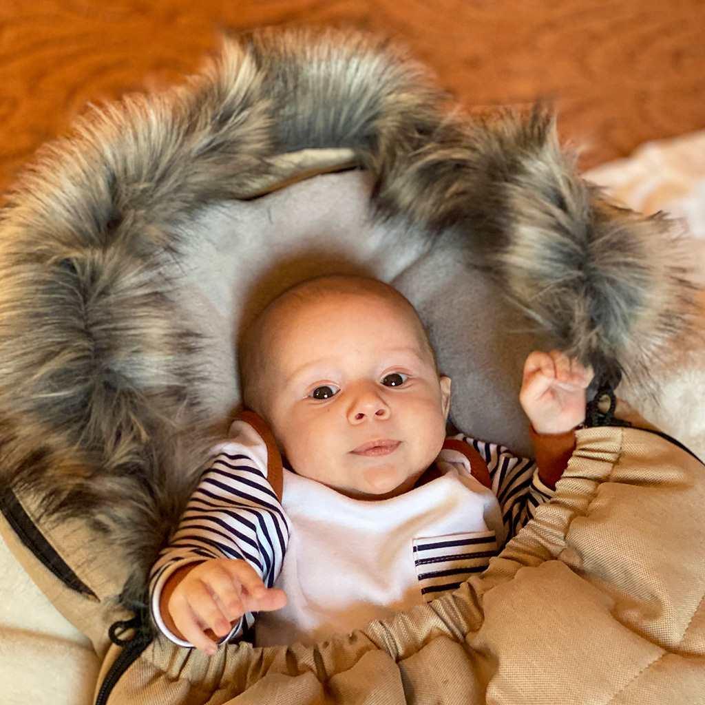 Dětský fusák New Baby s kožíškem