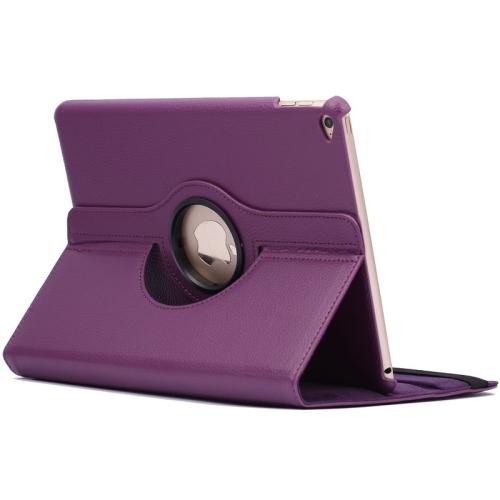 Kožený kryt / pouzdro Smart Cover Rotation Litchi pro iPad Air 2 fialový