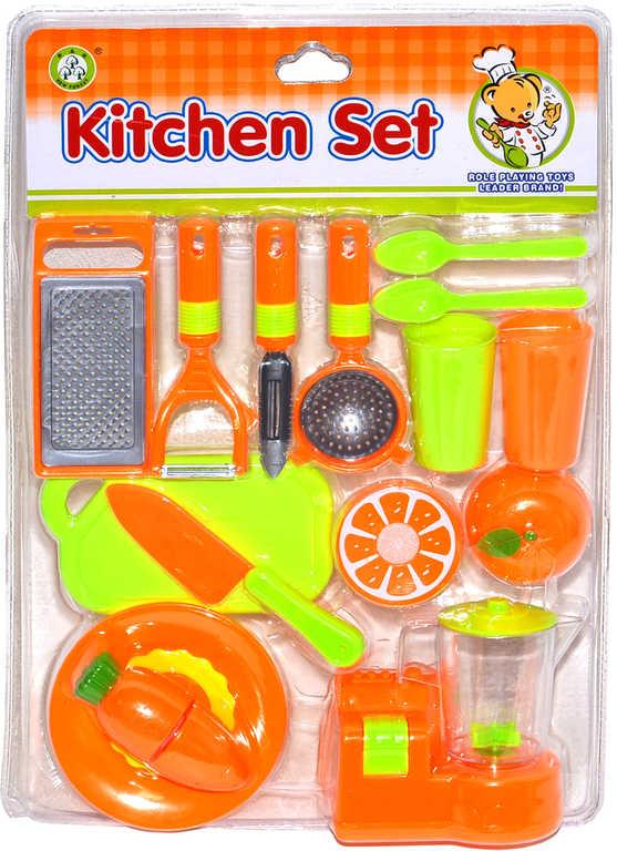 Kuchyňský dětský set nádobí + krájecí ovoce a zelenina na kartě