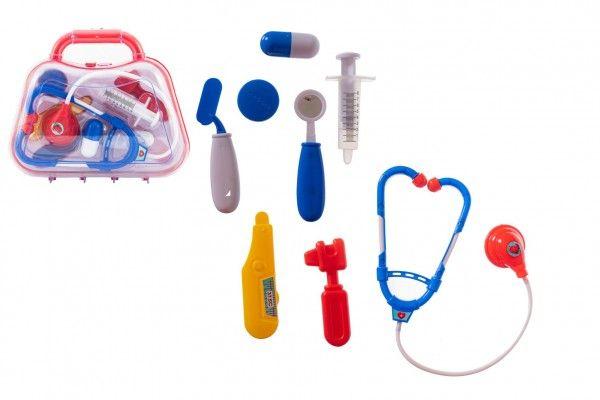 Sada doktor/lékař, průhledný kufřík