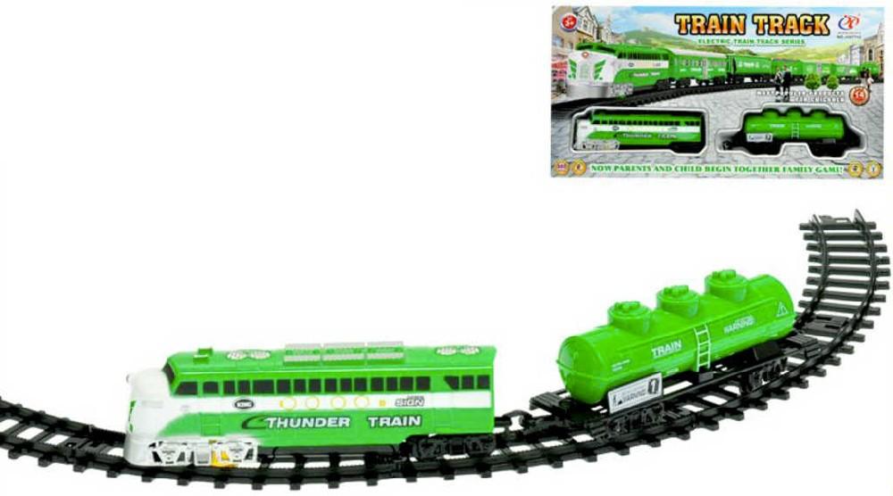 Vlaková dráha 70cm set lokomotiva + vagón na baterie Světlo Zvuk