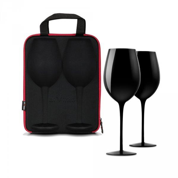 Slavnostní obří sklenice na víno - 2ks v dárkovém pouzdru