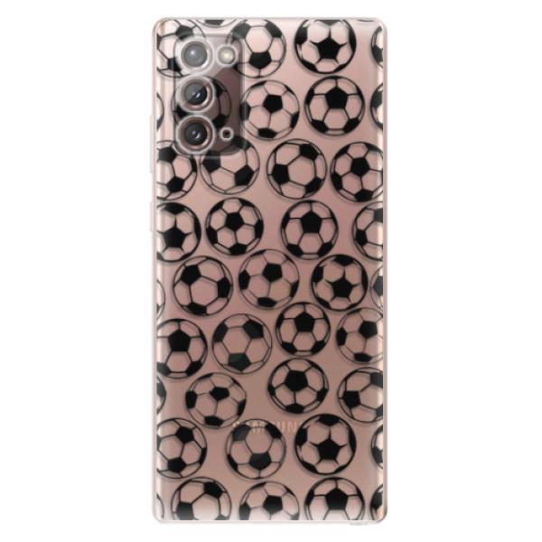 Odolné silikonové pouzdro iSaprio - Football pattern - black - Samsung Galaxy Note 20