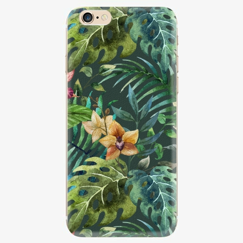 Silikonové pouzdro iSaprio - Tropical Green 02 - iPhone 6/6S