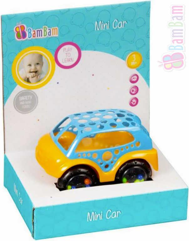 ET BAM BAM Baby autíčko 128 mini volný chod chrastítko pro miminko