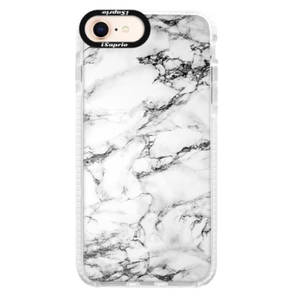 Silikonové pouzdro Bumper iSaprio - White Marble 01 - iPhone 8