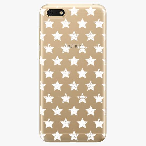 Silikonové pouzdro iSaprio - Stars Pattern - white - Huawei Honor 7S