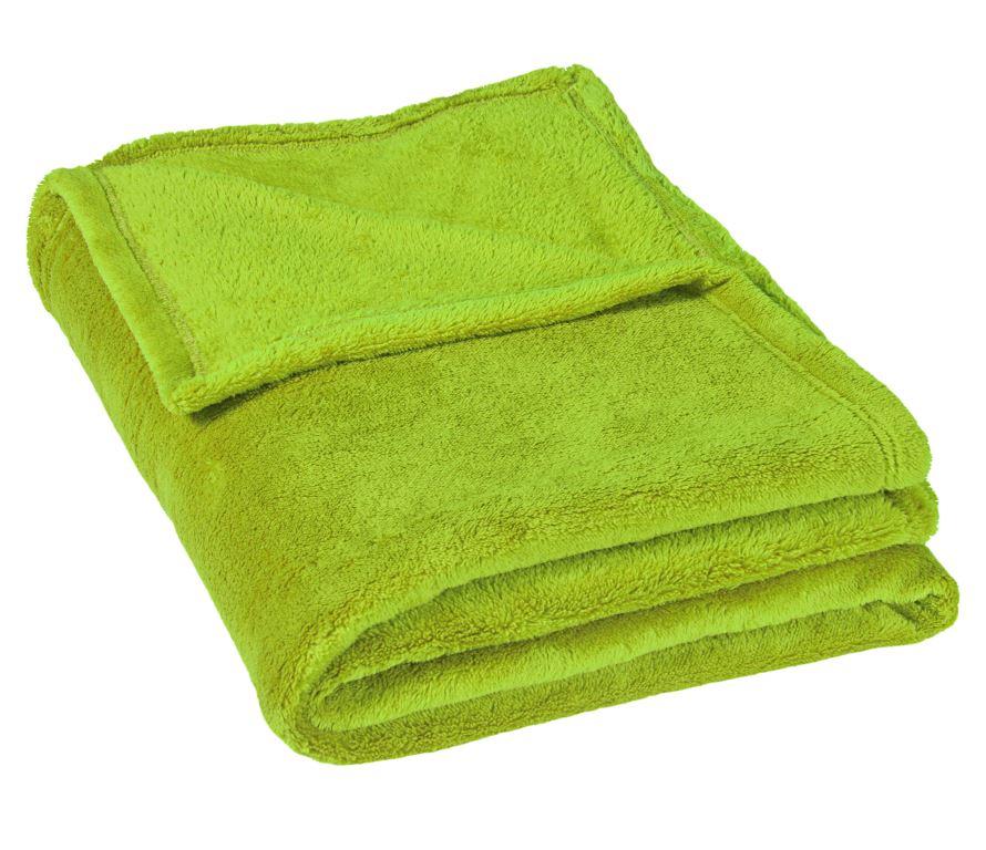 Micro deka jednolůžko 150x200cm světle zelená 300g/m2