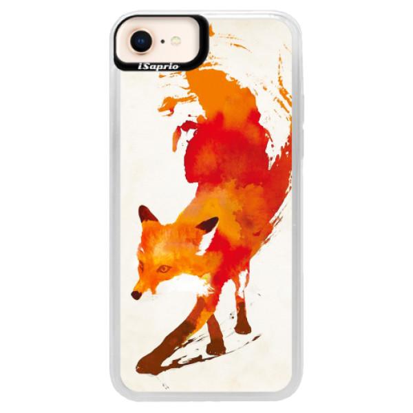 Neonové pouzdro Pink iSaprio - Fast Fox - iPhone 8