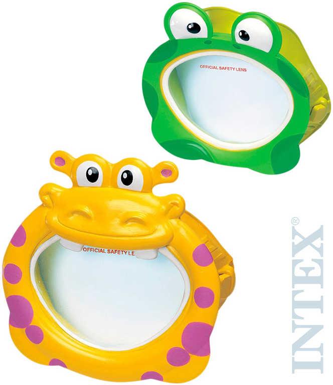 INTEX Brýle dětské veselé zvířátko na potápění do vody 2 druhy 55910