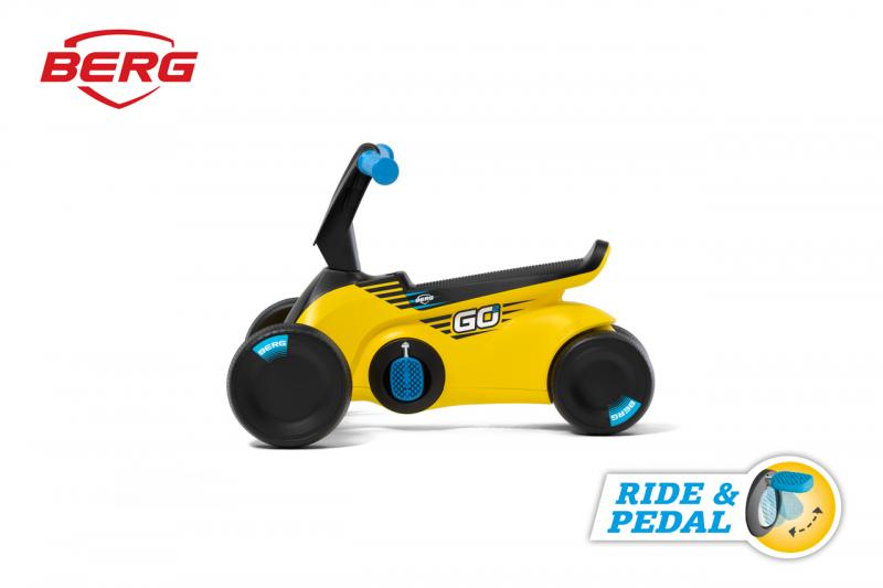 BERG GO SparX - 2v1, odrážedlo a šlapadlo žluté