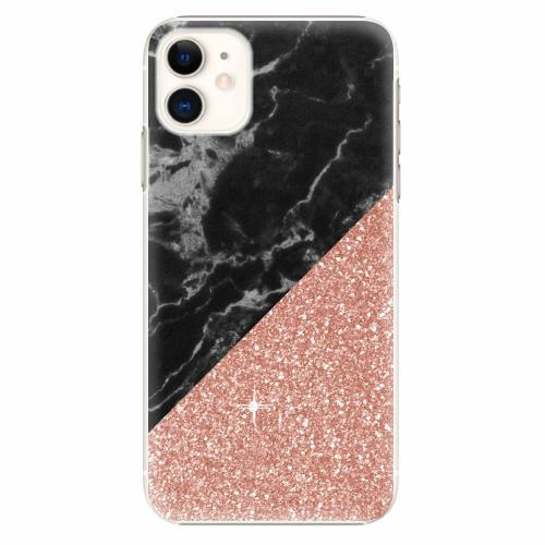 Plastový kryt iSaprio - Rose and Black Marble - iPhone 11