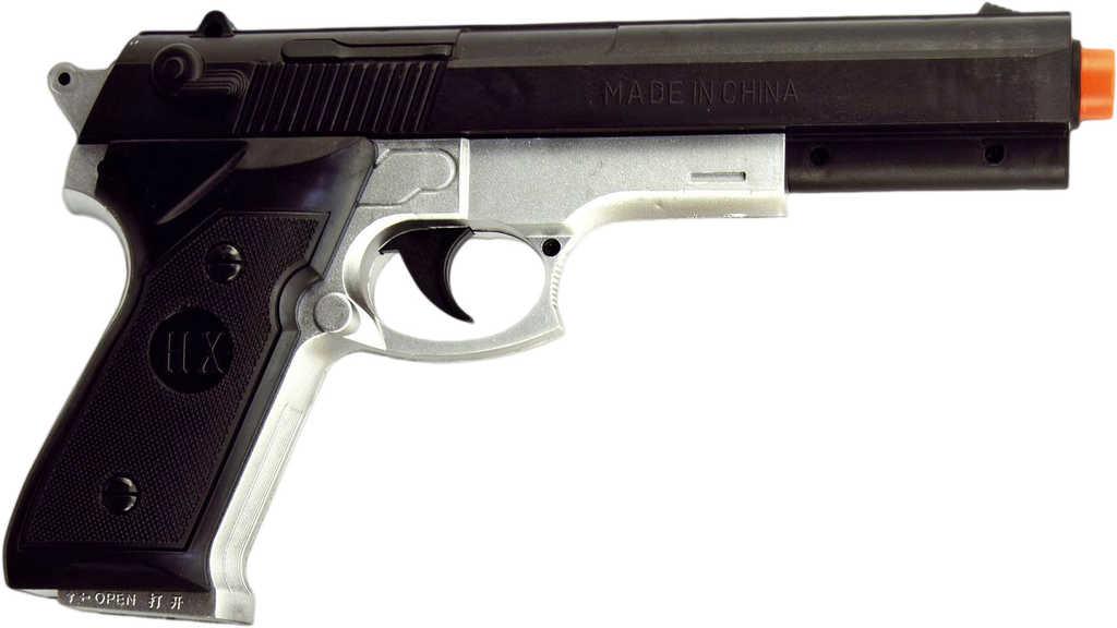 Herní set pistole laserová 23cm + terč 19cm na baterie Světlo Zvuk