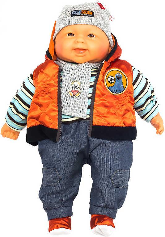 Panenka miminko velké kluk 55cm měkké tělíčko zimní obleček