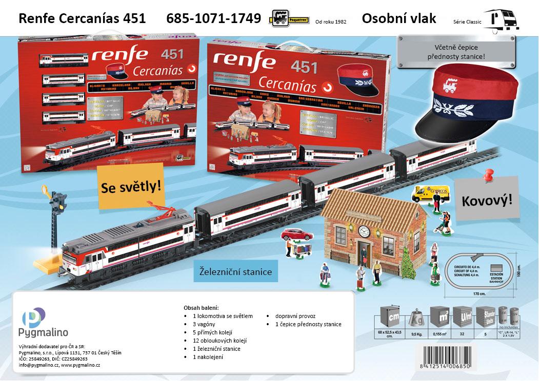 RENFE CERCANÍAS 451 - osobní vlak