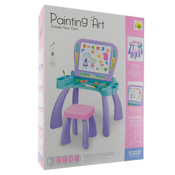 Euro Baby Dětská oboustranná magnetická tabule se stolečkem