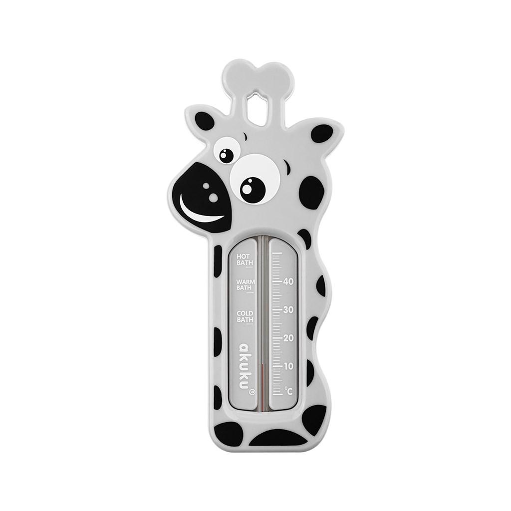 Dětský teploměr do vaničky Akuku Žirafa - šedá