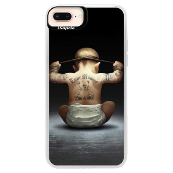 Neonové pouzdro Pink iSaprio - Crazy Baby - iPhone 8 Plus