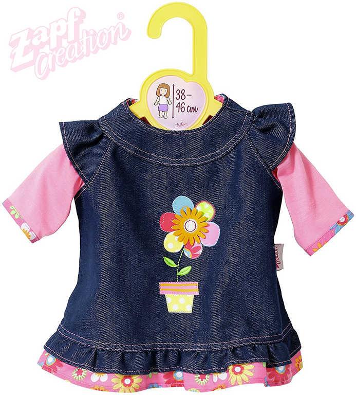 ZAPF CREATION Dolly Moda šatičky džínové pro panenku miminko 38-46cm