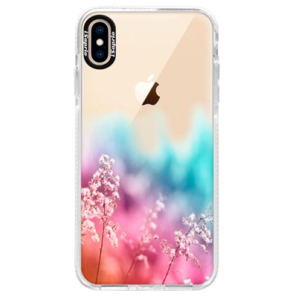 Silikonové pouzdro Bumper iSaprio - Rainbow Grass - iPhone XS Max