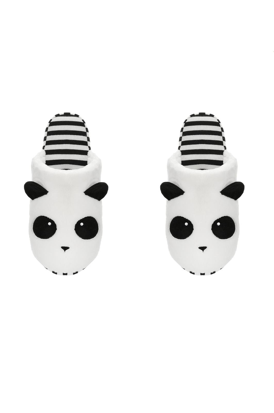 Dámské papuče 36170 Panda - Henderson Ladies - Bila s cernou/39/40