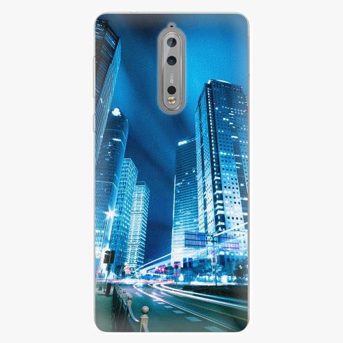 Plastový kryt iSaprio - Night City Blue - Nokia 8