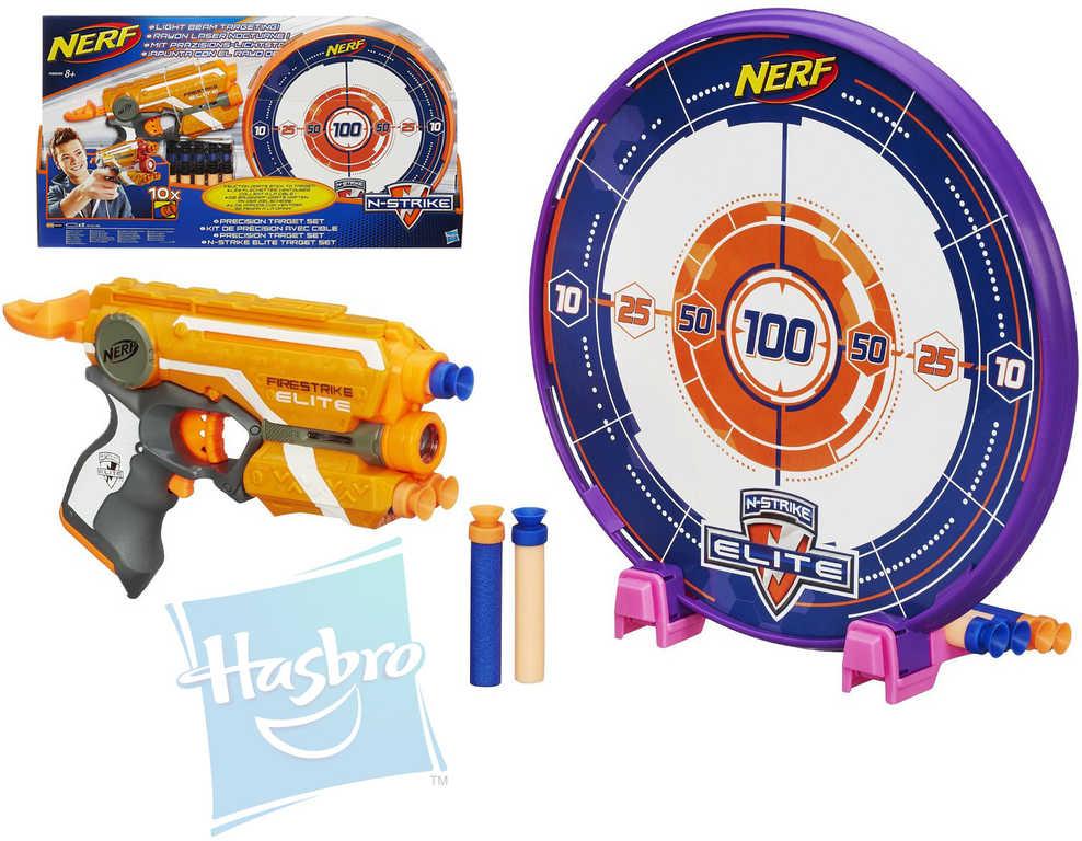 HASBRO NERF Elite pistole plastová set s terčem a zaměřovačem světlo
