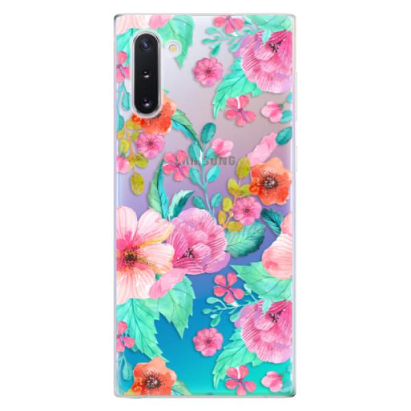 Odolné silikonové pouzdro iSaprio - Flower Pattern 01 - Samsung Galaxy Note 10