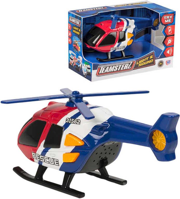 Teamsterz záchranný vrtulník na baterie Světlo Zvuk plast v krabici
