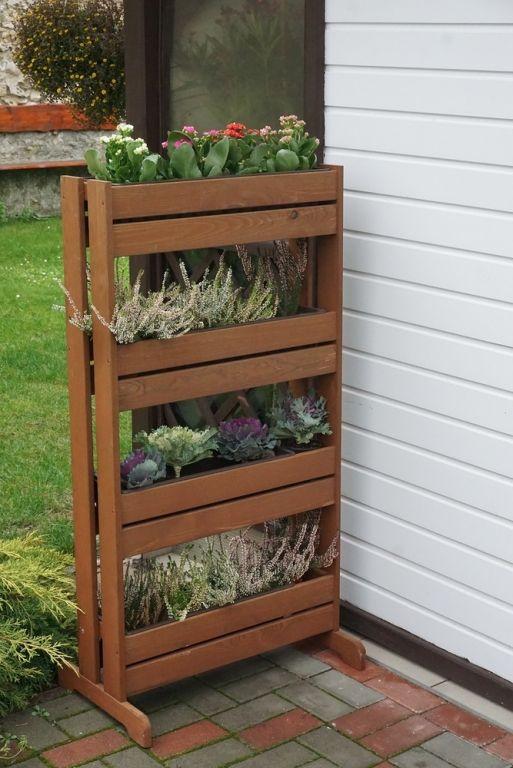 Stojan dřevěný na květináče - 125 x 55 x 40 cm