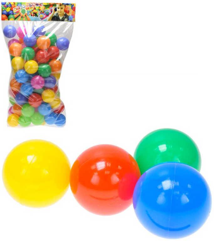 Baby míčky sada 7cm měkké barevné do hracího koutku do bazénu set 80ks